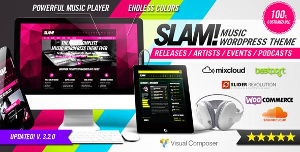 SLAM! Music Band, Musician and Dj Wordpress Theme - Music and Bands Entertainment