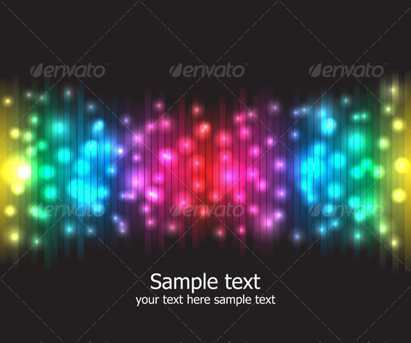 GraphicRiver Abstract rainbow colours background 130609