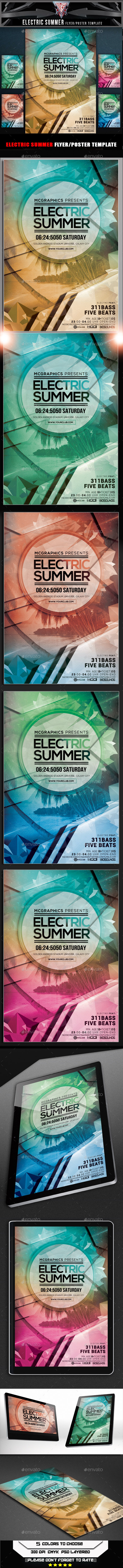 GraphicRiver Electric Summer Flyer Template 10363234