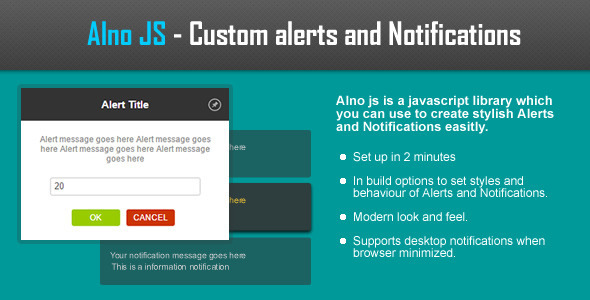 CodeCanyon AlnoJS Javascript Alerts & Notifications 10300911
