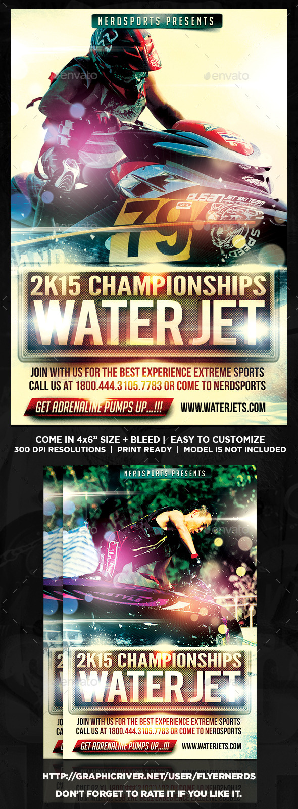 GraphicRiver Extreme Water Jet Sports Flyer 10363342