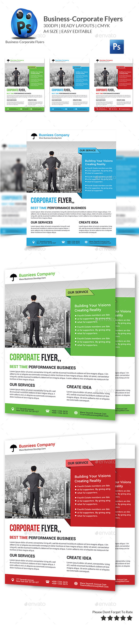 GraphicRiver Business Planner Flyer Print Templates 10363373