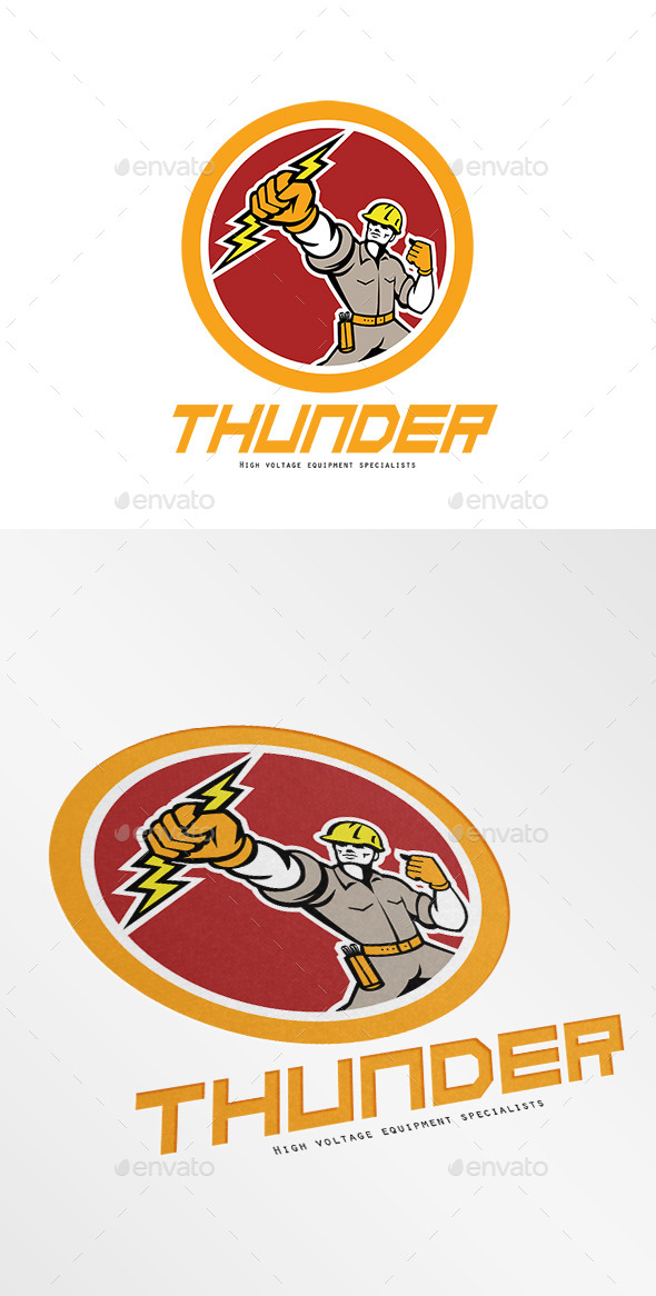 GraphicRiver Thunder High Voltage Electrical Logo 10363485