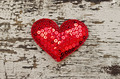 Red heart shape on wood background in vintage style - PhotoDune Item for Sale