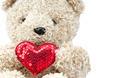 lovely bear doll holding red heart shape - PhotoDune Item for Sale