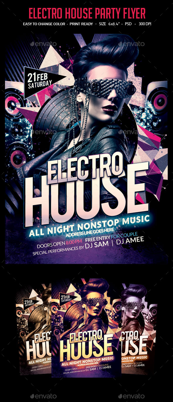 GraphicRiver Electro House Party Flyer 10363579