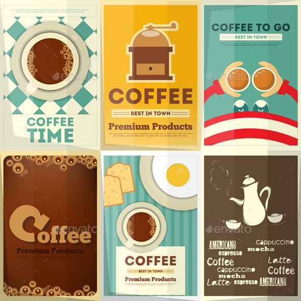 GraphicRiver Coffee Posters Set 10364311