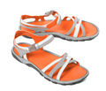 Pair of summer sandals on white background - PhotoDune Item for Sale