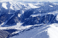 Top view on snowy mountains and off-piste slope - PhotoDune Item for Sale