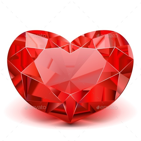 GraphicRiver Vector Ruby Heart 10364635