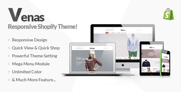 ThemeForest Venas Responsive Shopify Theme 10297090