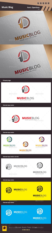 Music Blog Logo Template