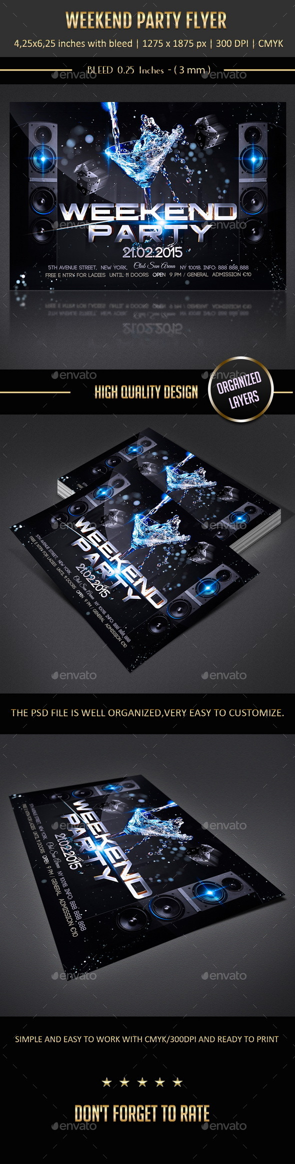 GraphicRiver Weekend Party Flyer 10364695