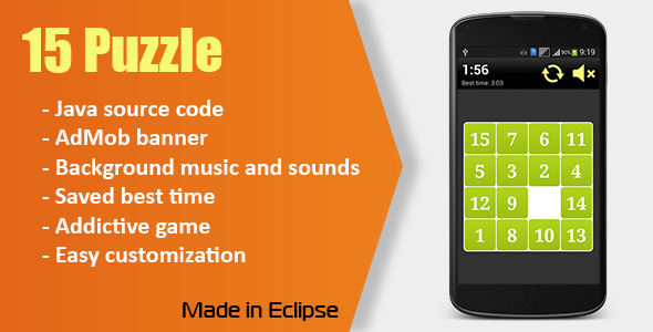 CodeCanyon 15 Puzzle Game with AdMob 10364838