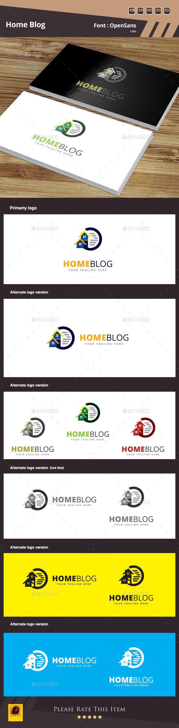 GraphicRiver Home Blog Logo Template 10364911