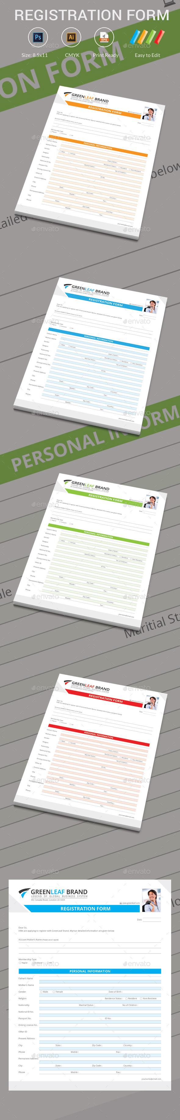 GraphicRiver Registration Form 10364912
