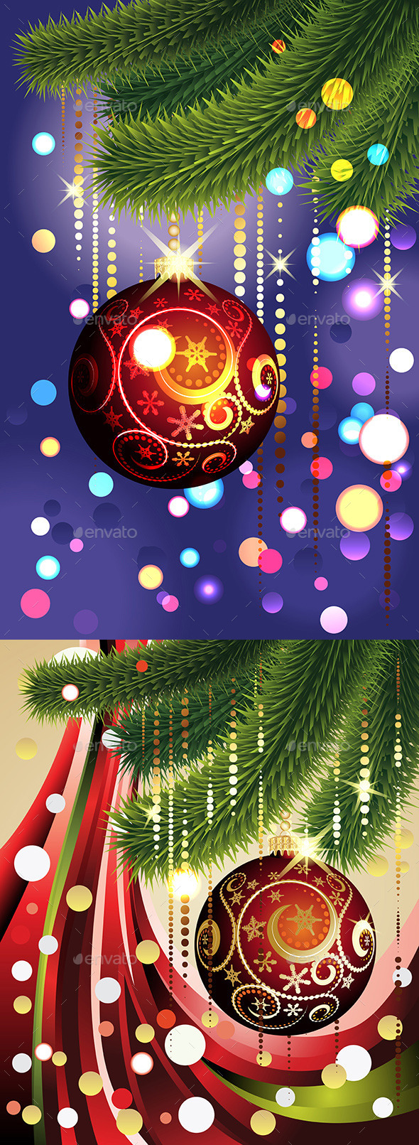 GraphicRiver Red Ball and Branches 10364970