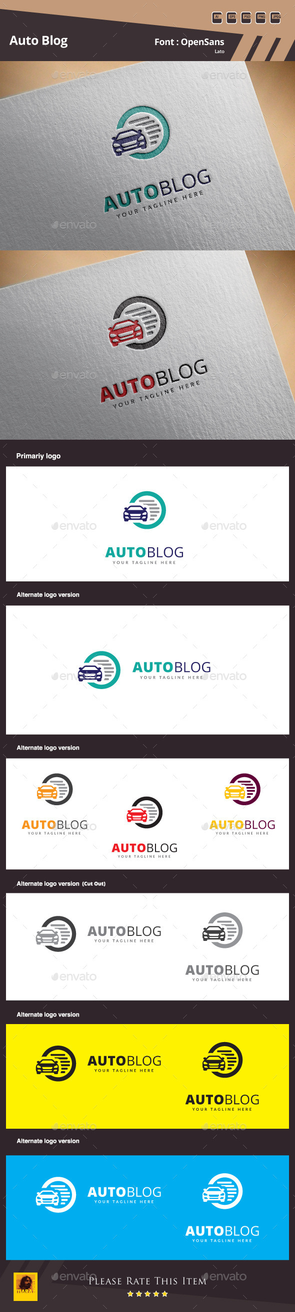 GraphicRiver Auto Blog Logo Template 10364996