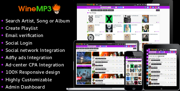 CodeCanyon WineMP3 Music Search Engine 10314013