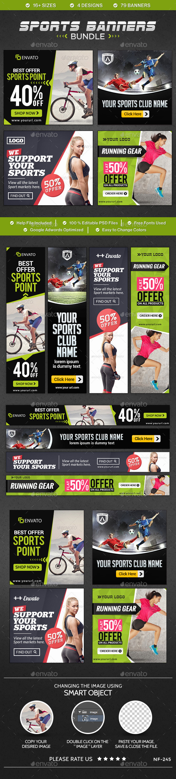 GraphicRiver Sports Banners Bundle 4 sets 10365111