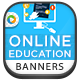 Online Education Banners - GraphicRiver Item for Sale
