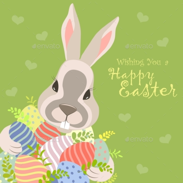 GraphicRiver Easter Bunny and Easter Eggs 10365316