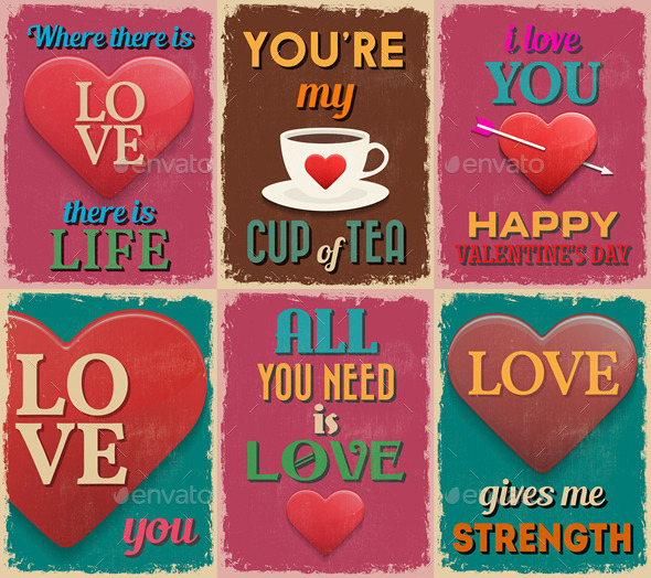 GraphicRiver Valentine s Day Love Posters 10365661