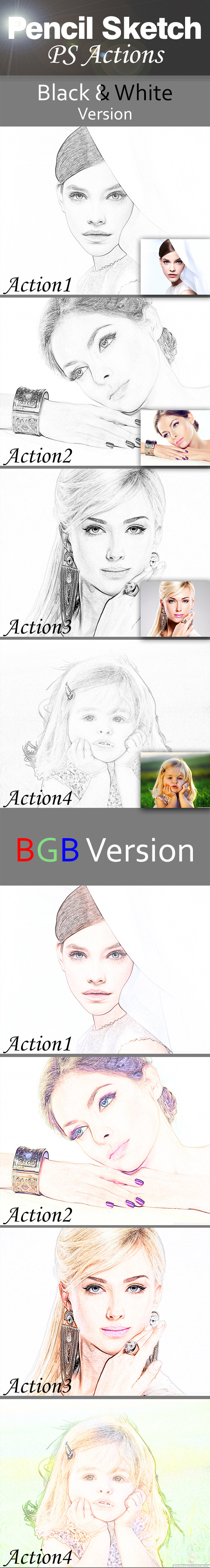 GraphicRiver Pencil Sketch Actions 10365691