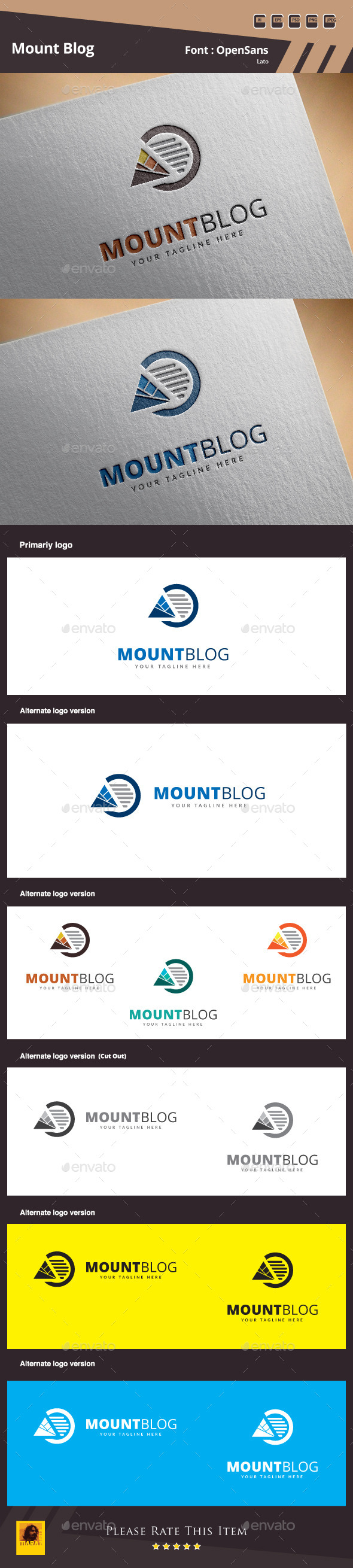 GraphicRiver Mount Blog Logo Template 10365736