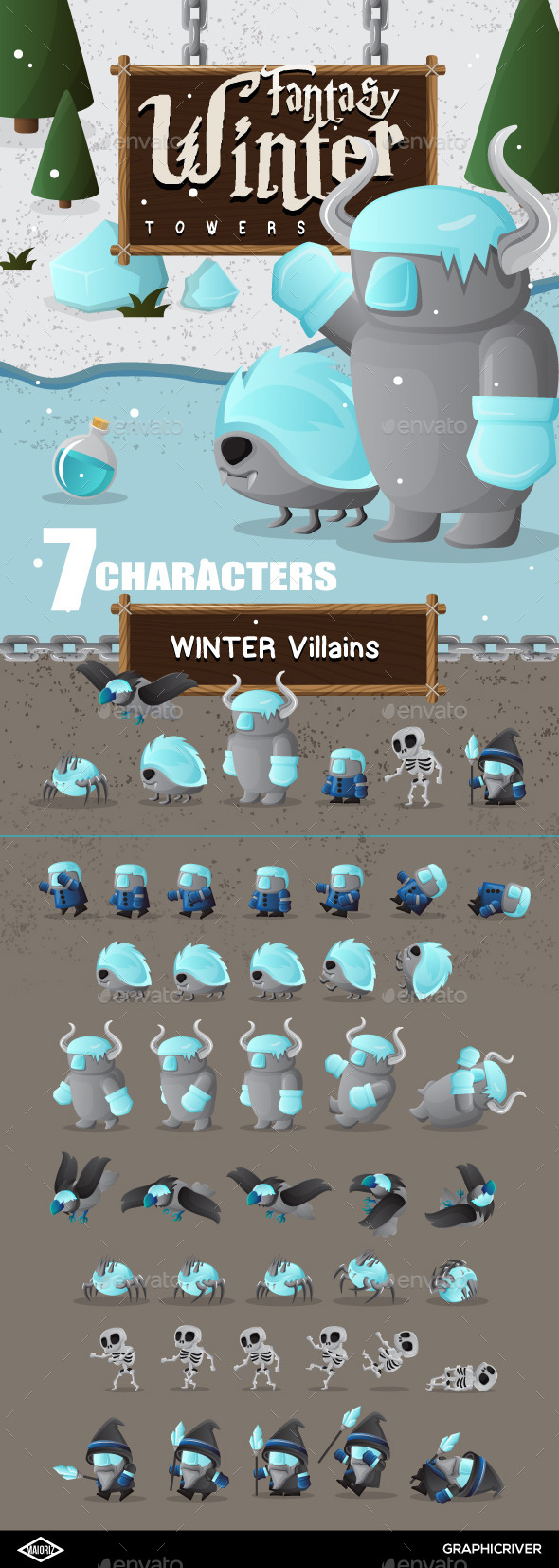 GraphicRiver Winter Characters Game 10323498