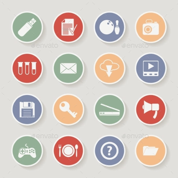 GraphicRiver Universal Round Icons 10365884