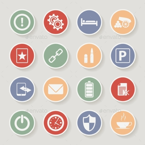 GraphicRiver Universal Round Icons 10365901