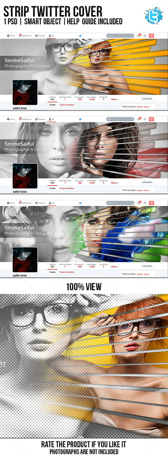 GraphicRiver Strip Twitter Cover 10365963