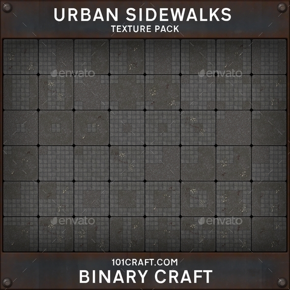 3DOcean Urban Sidewalks Texture Pack 10366099