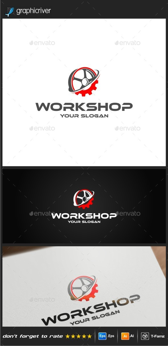 GraphicRiver Work Shop Logo Templates 10366244
