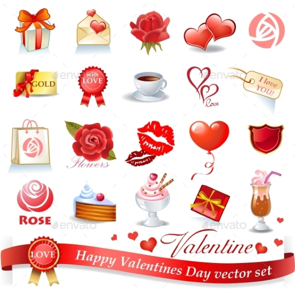 GraphicRiver Valentines Design Elements 10366325