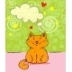Greeting Card with Red Cat - GraphicRiver Item for Sale