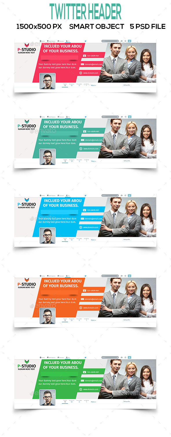 GraphicRiver Multipurpose Twitter Header V1 10366684