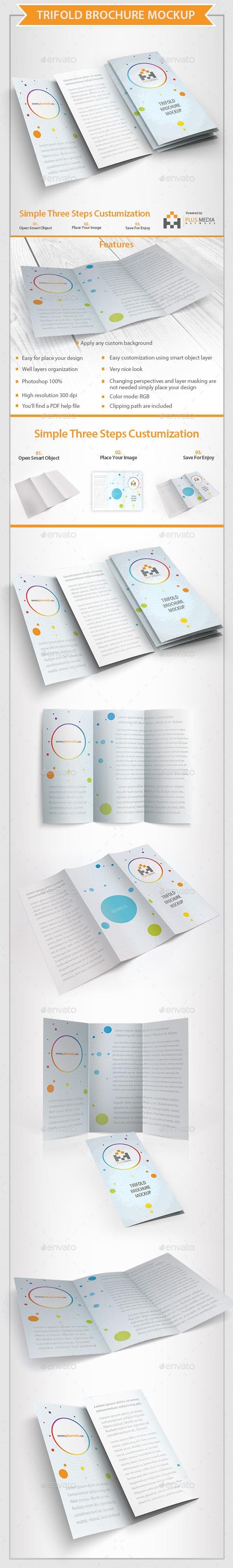 GraphicRiver Trifold Brochure Mockup 10366875