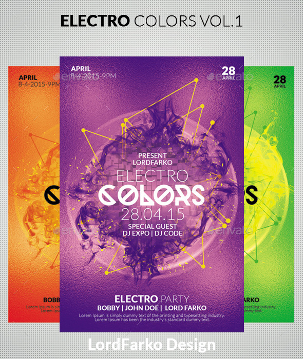 GraphicRiver Electro Colors Vol.1 10367088