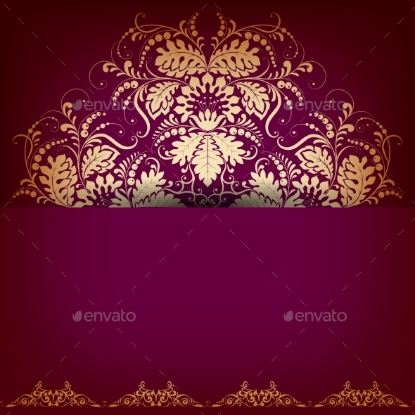 GraphicRiver Elegant Background with Lace Ornament 10367102
