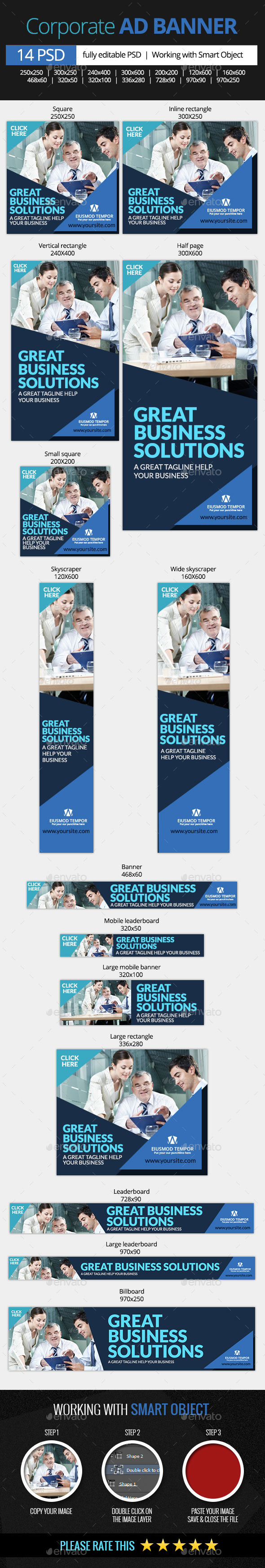 GraphicRiver Corporate and Business Web Banners 10367163