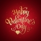 Happy Valentines Day Vintage Card with Lettering - GraphicRiver Item for Sale