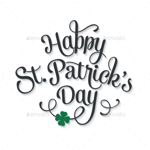 GraphicRiver Typographic Saint Patrick s Day Greeting Card 10367505