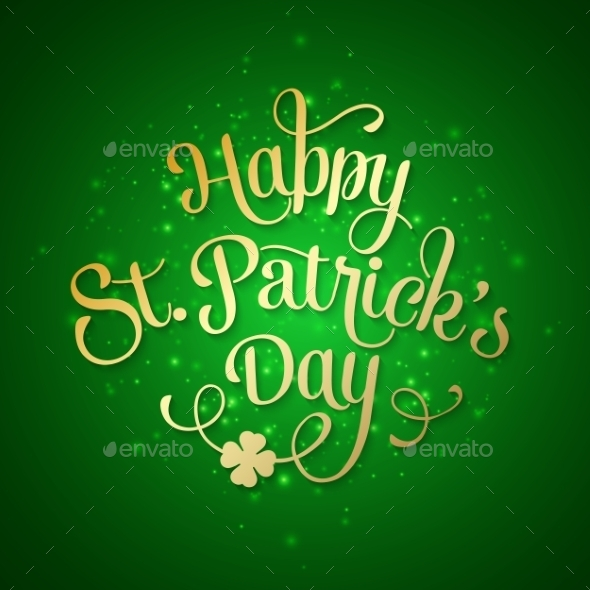 GraphicRiver Typographic Saint Patrick s Day Greeting Card 10367510