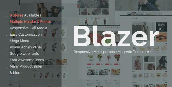 Blazer Premium Responsive Magento Theme