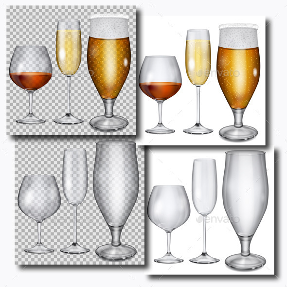 GraphicRiver Transparent Glass Goblets 10367542