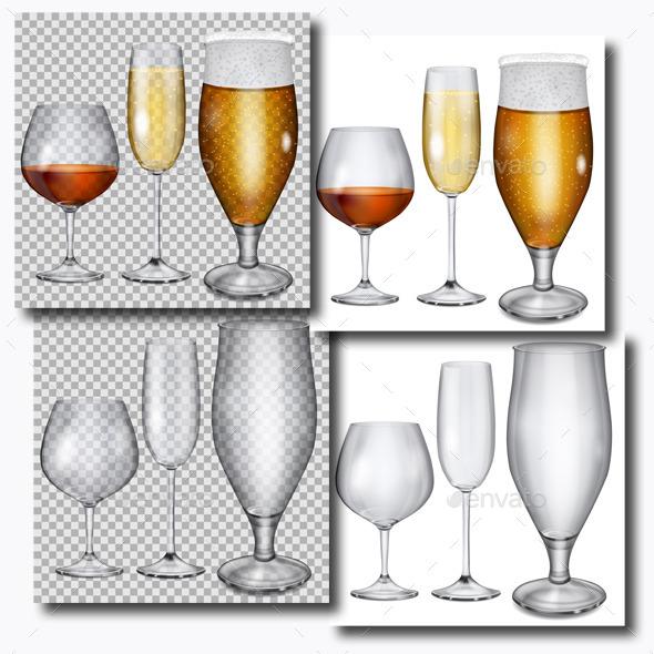 Transparent Glass Goblets