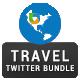 Travel Twitter Header Bundle - 6 sets - GraphicRiver Item for Sale
