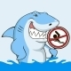 White shark - GraphicRiver Item for Sale